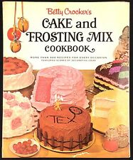 Betty Crocker Cake & Frosting Mix Cookbook 1st Ed 1966 3rd Printing Shaped Cakes