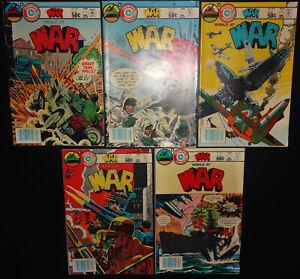 War #26, 27, 29, 35, 36 1981-1982 (Average -6.0/FN) 5-Iss lot Charlton War