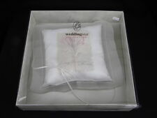 NIB Ivory Wedding/Bridal Ring Bearer Pillow w/Cala Liily Today Tomorrow Forever