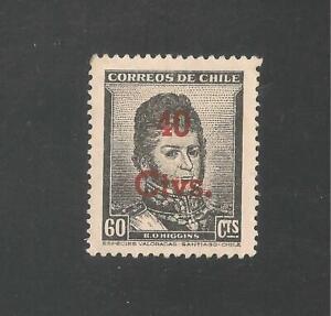 Chile #266 (A117) VF MINT VLH - 1952 40c on 60c Bernardo O'Higgins