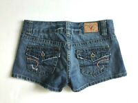 AMERICAN EAGLE Distressed Denim Shorts Flap Pockets Women's 2