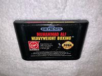 Muhammad Ali Heavyweight Boxing (Sega Genesis, 1992) Game Cartridge Vr Nice!