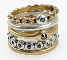 LUCKY BRAND TWO TONE RING STACKS,NWT,MSRP-$18.50
