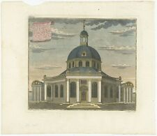 Antique Print of the Dutch Church in Batavia by Heydt (1738)