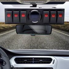 6 Rocker Switch Panel Switch Cotrol Bracket Digital Voltmeter For Jeep JK JKU