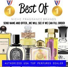 or Full Bottle: Send Name & Offer World's Top Designer & Niche Brands Decant