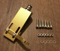 Gold HiFi CNC Machined Turntable Headshell, OFC Wires Gold Terminals
