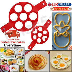 Silicone Nonstick Pancakes Maker Egg Ring Cheese Omelette Cooker Pan Flip Mould
