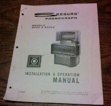 SEEBERG PHONOGRAPH MODELS SPS2 & ESPS2 Installation & Operation Manual-original