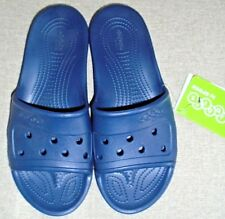 c8e7e7e65 CROCS JIBBITZ MEN S PRESLEY SLIDE RELAXED FIT SANDALS IN NAVY UK 11 NEW