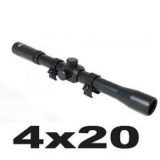 ottica 4x 20mm per carabina cannocchiale mira mirino di precisione