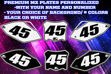 Kawasaki KXF 450 09-11 Custom Pre Printed Number plate Backgrounds