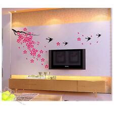 Wall Decor Art Vinyl DIY Home Room Decal Sticker Spring Scenery Sakura Swallow