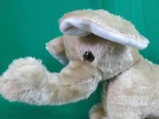 "Kelly Toy Gray White Baby Elephant Floppy Ears Plush Stuffed Animal 13"""