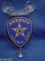 ESSEX COUNTY NJ  SHERIFF-  POLICE -FAMILY MEMBER CAR SHIELD  PBA FOP