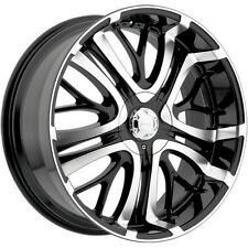 4-NEW Incubus 500 Paranormal 20x8.5 5x110/5x115 +35mm Black/Machined Wheels Rims