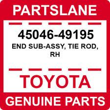 45046-49195 Toyota OEM Genuine END SUB-ASSY, TIE ROD, RH