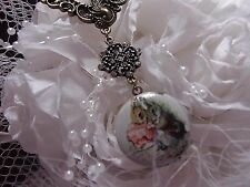 CHOCOLATE BUNNY Rabbit Cameo Necklace Pendant CAGE MOTHERS DAY COOP BRACELET