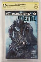 Dark Knights Metal 6 PRIVATE COLLECTION OF SCOTT SNYDER CBCS SS SIGNED 3 TIMES