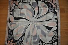 "NEW $375 EMILIO PUCCI 100% Silk Abstract Print Scarf 34"" (90x90cm)"