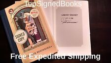SIGNED A Series of Unfortunate Events: The Bad Beginning Lemony Snicket, new