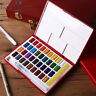 Faber-Castell 24/36/48Colors Solid Watercolor Paint & Brush Portable Pigment Set