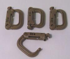 Grimloc, D-Ring Carabiner Tan MOLLE II,  FLC (set of Four 4) ITW Nexus Grimlock