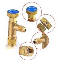 """1/4"""" - 1/4"""" R22 Copper Flow Control Valve for Refrigerant Charging Hose AC Tool"""