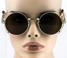 Men's or Women CLASSIC VINTAGE LENNON Style SUN GLASSES Round Gold Fashion Frame