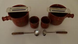 Feuerzangenbowle Traumfeuer 2er Set komplett rot Keramik Pott 8 teilig