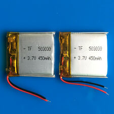 2pcs 3.7V 450mAh LiPo li-polymer Battery for MP3 MP4 GPS Speaker Recorder 503030