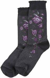 Hue Women's Socks Colored Eggplant Femme Top One Size USA