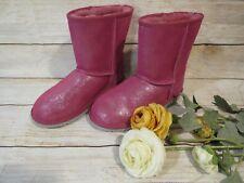 Ugg Classic Glitter Boots Big Kids Style in Fuschia Size 5 S16
