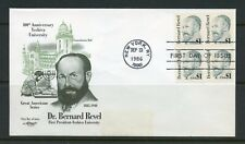 UNITED STATES 1986  $1 BERNARD rEVEL BLOCK  FIRST DAY COVER