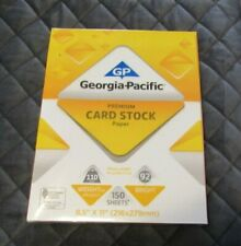 110lb. White Premium Card Stock Paper - 150 Sheets - Georgia Pacific