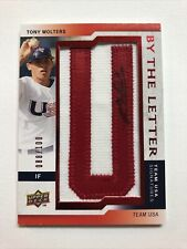 2009 Tony Wolters By The Letter Team USA Signatures #88/100