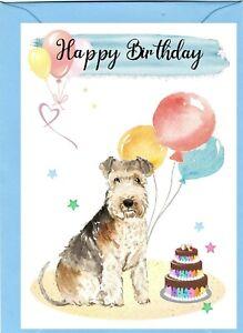 "Lakeland Terrier Dog (4""x 6"") Birthday Card with blank inside - by Starprint"