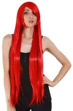 Long Straight Cosplay Hair Wigs Halloween Women Heat Resistant Costume Full Wigs