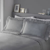 Serene RENAISSANCE Silver / Grey Embroidered Lace Vintage Duvet Cover Set