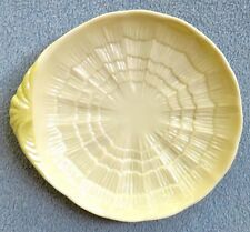 Belleek New Shell Yellow Single Handle Candy Dish Nappy Bowl