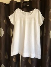 SIZE 18 WHITE LINEN TUNIC/DRESS