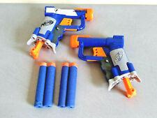 Lot de 2 Pistolets NERF N-STRIKE JOLT + 4 Fléchettes - TBE