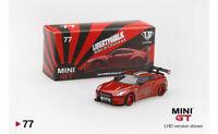 #MGT00077-L - Mini GT LB-Works Nissan GT-R (R35) Candy Red (LHD) - 1:64