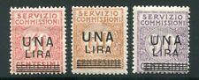1925 Regno Servizio Commissioni serie completa di 3 val. MNH ** sovrastampati