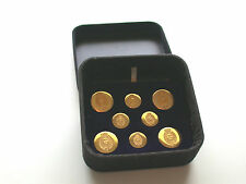 Set of Eight Beautiful Vintage French Gold Uniform Buttons Set