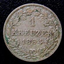 WURTTEMBERG = 1864 = 1 KREUZER - KONIG WILHELM