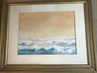 """Vintage H Patty """"Seascape Scene"""" Oil Painting - Signed And Framed"""