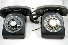 2 Vintage Bell Systems Western Electric Rotary Phone C/D 500 - Black As Is