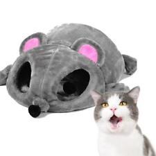 Cartoon Mouse Cat Cave Pet House Cushion Nest Soft Cozy Mat Sleeping Bed  ujkl