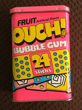 Vintage OUCH! Bubble Gum Tin Container, Empty